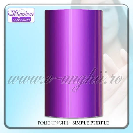 Folie decorativa unghii - Simple Purple