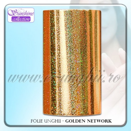 Folie decorativa unghii - Golden Nwtwork