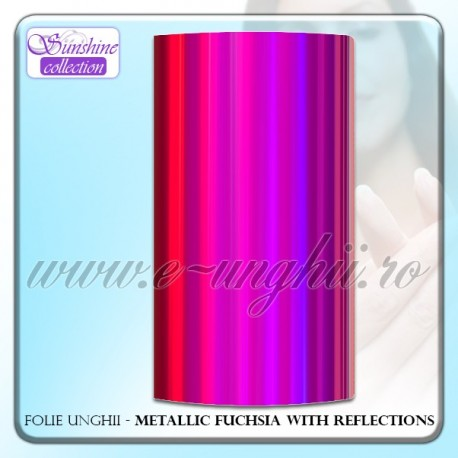 Folie decorativa unghii - Mettalic Fucsia Reflections
