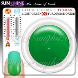 Gel Colorat Termocrom - LIGHT GREEN to TURQUOISE OXIDE (Geluri colorate termo - Geluri colorate termocrom )