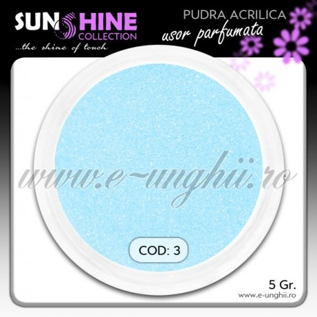 Pudra acrilica color Cod: 3 - Praf acrilic ceruleum light