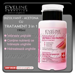 Acetona cu Tratament 3 in 1+ Eveline Cosmetics