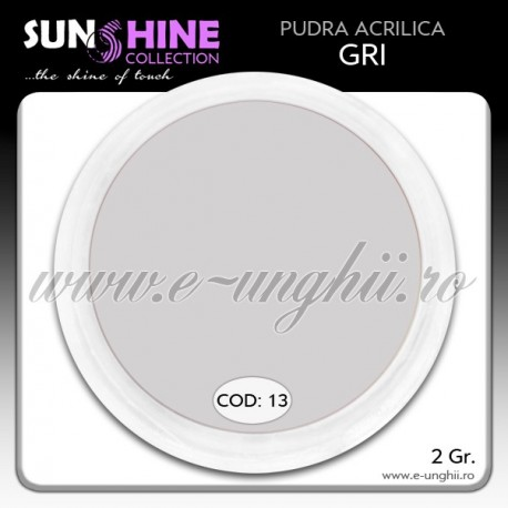 Acril color - Cod:13 - Acril pudra GRI www.e-unghii.ro