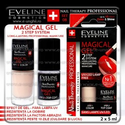 MAGICAL GEL - Lac cu Tratament + Top Coat Eveline Cosmetics - SET 08
