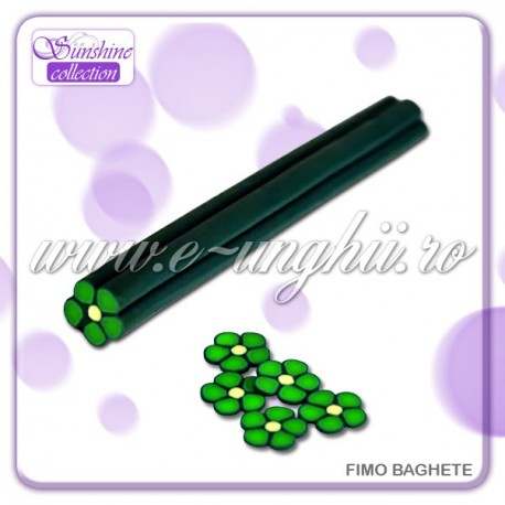 Fimo Baghete - FB023 Floare VERDE