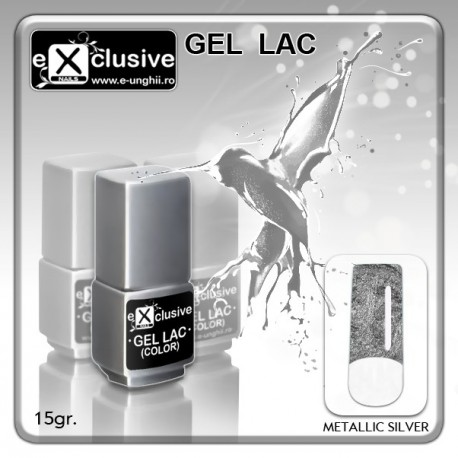 Gel LAC - Metallic-Silver