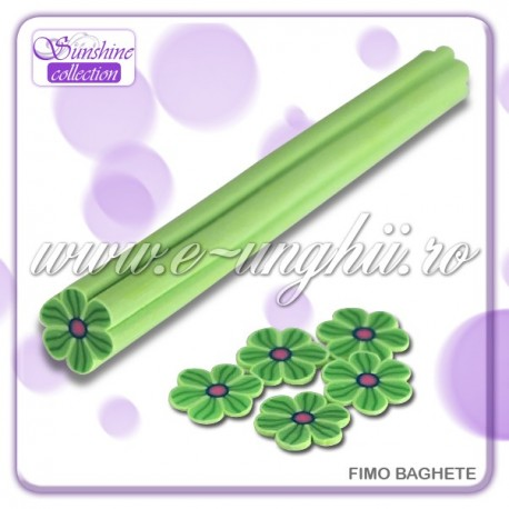 Fimo Baghete - FB030  Floare Verde 2