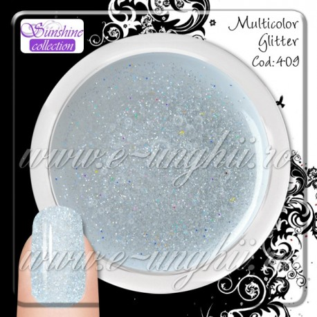 Gel Transparent GLITTER MULTICOLOR 409