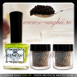 Caviar Nails - Verde Brotacel Multicolor ( Manichiura Caviar )