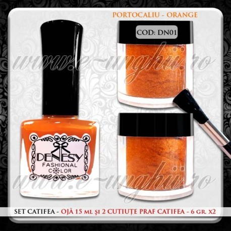Set Catifea Orange - DN1
