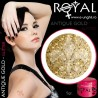 Gel colorat glitter ROYAL - Antique Gold (geluri unghii glitter Royal Femme)
