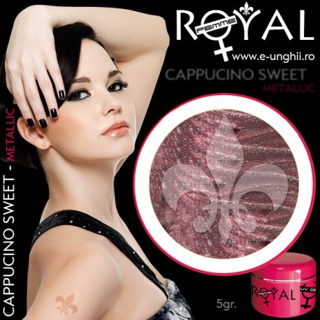 Gel colorat metalic ROYAL - Cappucino Sweet (geluri unghii metalic Royal Femme)