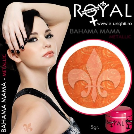 Gel colorat metalic ROYAL - Bahama Mama (geluri unghii metalic Royal Femme)