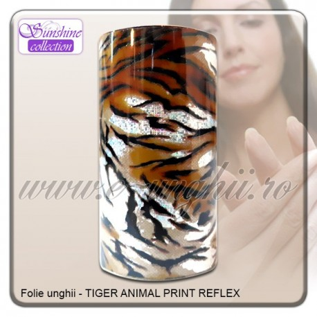 Folie decorativa unghii - Animal Print Tiger-Reflex