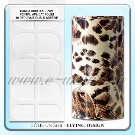 Folie decorativa unghii - Flying Design Animal Print
