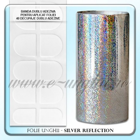Folie decorativa unghii - Silver Reflection