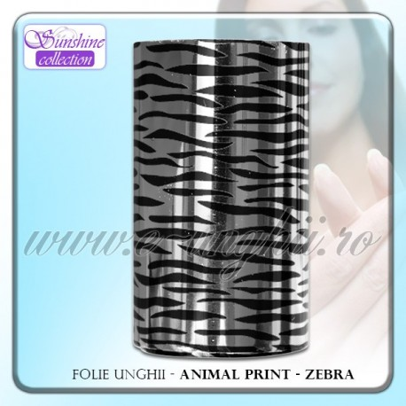 Folie decorativa unghii - Animal Print ZEBRA