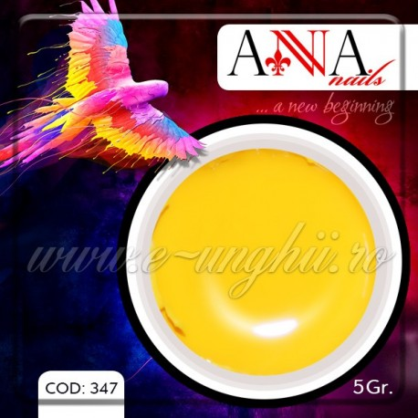 Gel unghii colorat 5gr. - 347 (Geluri Colorate Anna Nails - Beautiful Yellow)