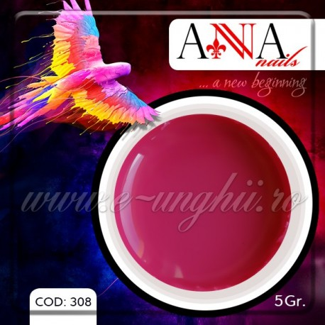 Gel unghii colorat 5gr. - 308 (Geluri Colorate Anna Nails - Sweet Candy)