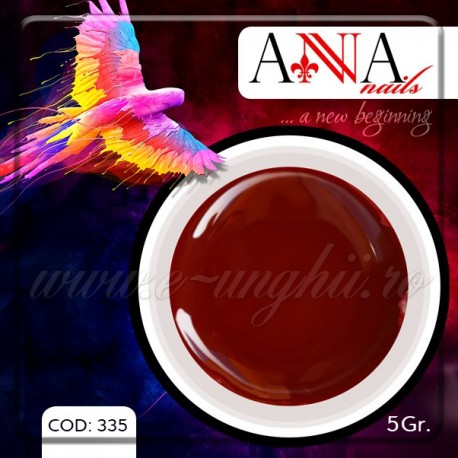 Gel unghii colorat 5gr. - 335 (Geluri Colorate Anna Nails - Red Brown)