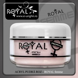 Pudra acril Royal Femme - ROZ LIGHT (pudra acrilica unghii)