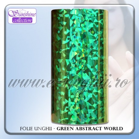 Folie decorativa unghii - GREEN ABSTRACT WORLD