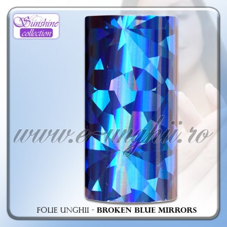 Folie decorativa unghii - BROKEN BLUE MIRRORS