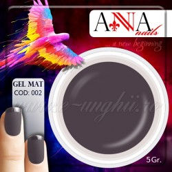 Gel mat GRI COLORAT 002 - Geluri Colorate Mate Anna nails