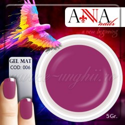 Gel mat FUCHSIA PAL 112809 - Geluri Colorate Mate Anna nails