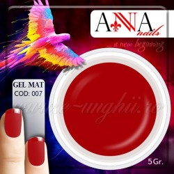 Gel mat ROSU HOT 111763 - Geluri Colorate Mate Anna nails