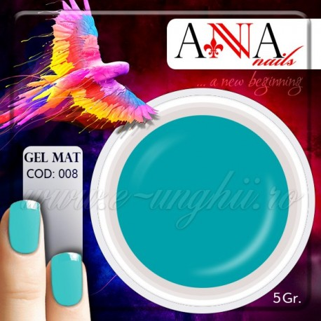 Gel mat TURCOAZ 112869  - Geluri Colorate Mate Anna nails