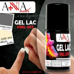 Gel Lac 014-White Butter - Oja Semipermanenta sau Oja Permanenta