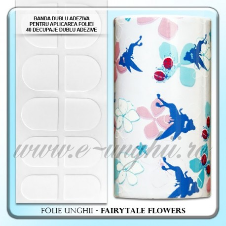 Folie decorativa unghii - FAIRYTALE FLOWERS