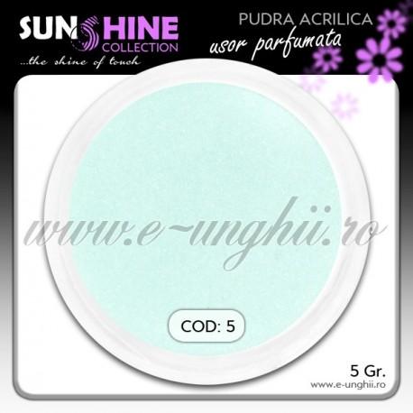 Pudra acrilica color Cod: 5 - Praf acrilic turcoaz light