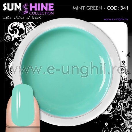 Geluri Unghii Colorate - 341 Sunshine Collection (Gel colorat Verde Menta)