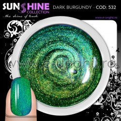 Geluri Unghii Colorate - 532 Sunshine Collection (Gel colorat Green Blue Galaxy)