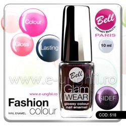 Lac unghii profesional Bell-518 (Lacuri unghii profesionale Glam Wear)