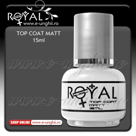 Lac Top Coat Mat 15ml - Top Coat Mat Royal Femme