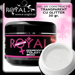 Gel Constructie Transparent cu Glitter - 30gr. Royal Femme