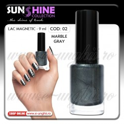 Oja magnetica - 02 Marble Gray (Lacuri magnetice unghii)