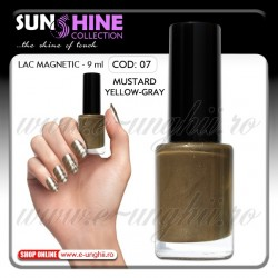 Oja magnetica - 07 Mustard Yellow Gray (Lacuri magnetice unghii)