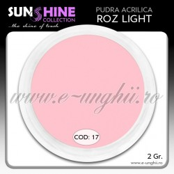 Acril color - Cod:17 - Acril pudra ROZ LIGHT www.e-unghii.ro
