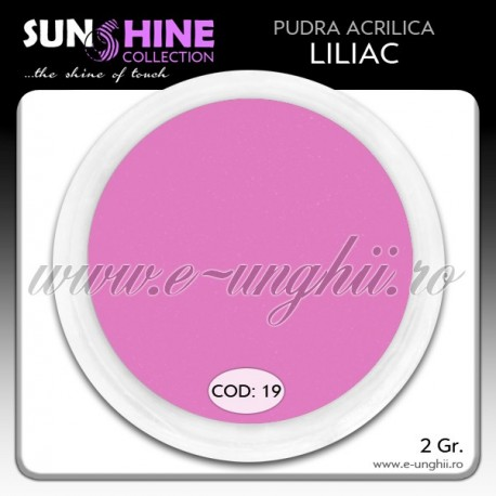 Acril color - Cod:19 - Acril pudra MOV LILIAC www.e-unghii.ro