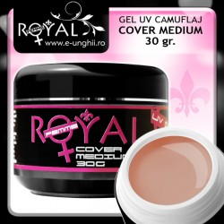 Gel UV COVER MEDIUM 30 gr. (Gel UV Camuflaj Royal Femme)