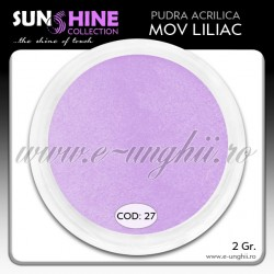 Acril color - Cod:27 - Acril pudra MOV LILIAC www.e-unghii.ro