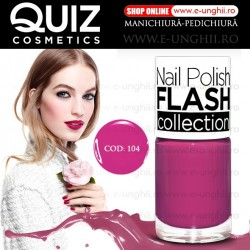 Lacuri Unghii 104 FLASH Collection - QUIZ Cosmetics