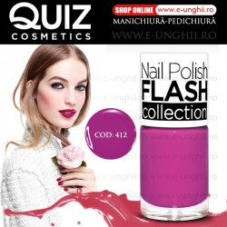 Lacuri Unghii 412 FLASH Collection - QUIZ Cosmetics