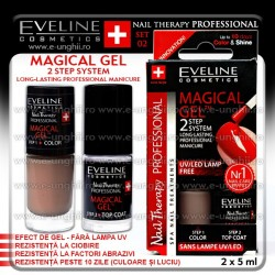 MAGICAL GEL - Lac cu Tratament + Top Coat Eveline Cosmetics - SET 02