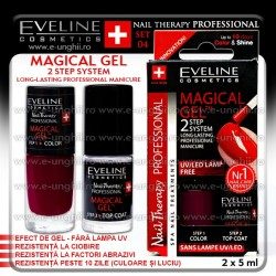 MAGICAL GEL - Lac cu Tratament + Top Coat Eveline Cosmetics - SET 04