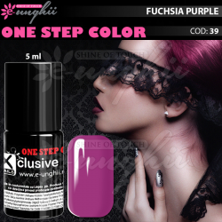 Gel Lac One Step, Exclusive Nails, Cod 39, Oja Semipermanenta One Step, 5ml, Fuchsia Purple